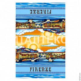 """Тонкое сувенирное пляжное полотенце 60х90 """"ITATI"""" Артикул: Флоренция"""