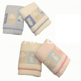 "Детские махровые полотенца в наборе 2 штуки ""VINGI RICAMI"" Артикул: Симба"