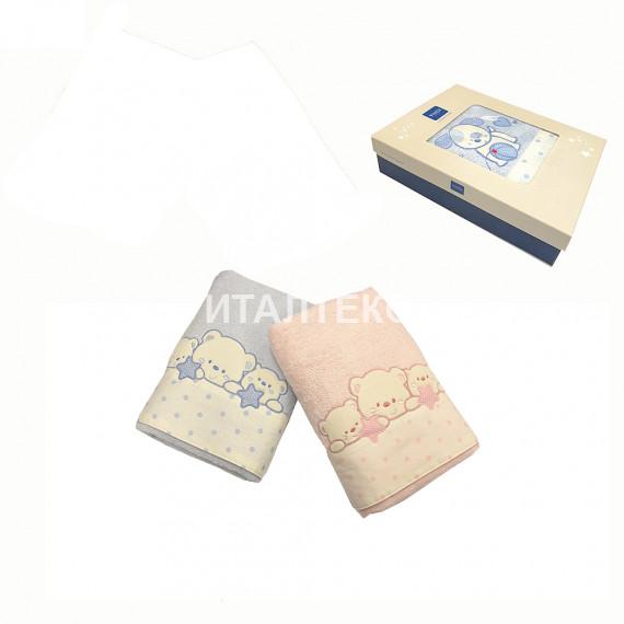 """Детские махровые полотенца в наборе 2 штуки """"VINGI RICAMI"""" Артикул: Полли (мишка)"""