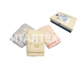 """Детские махровые полотенца в наборе 2 штуки """"VINGI RICAMI"""" Артикул: Тедди (слоник)"""
