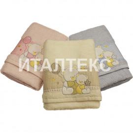 """Детские махровые полотенца в наборе 2 штуки """"VINGI RICAMI"""" Артикул: Флиппер (мишка)"""