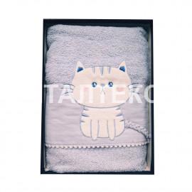 "Детские махровые полотенца в наборе 2 штуки ""VINGI RICAMI"" Артикул: Китти"