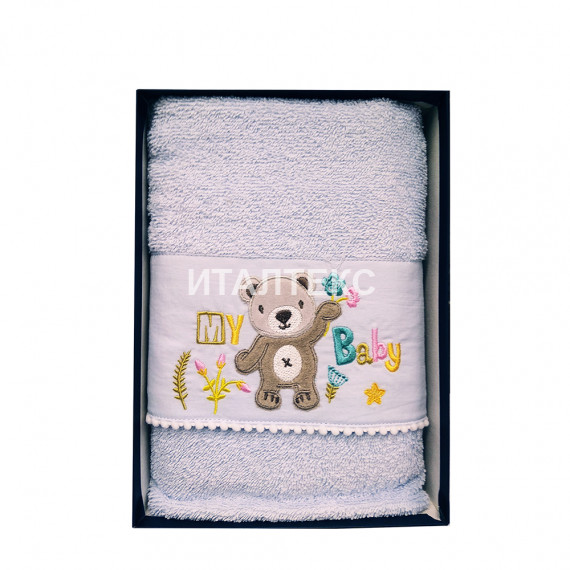 """Детские махровые полотенца в наборе 2 штуки """"VINGI RICAMI"""" Артикул: Орсетто"""
