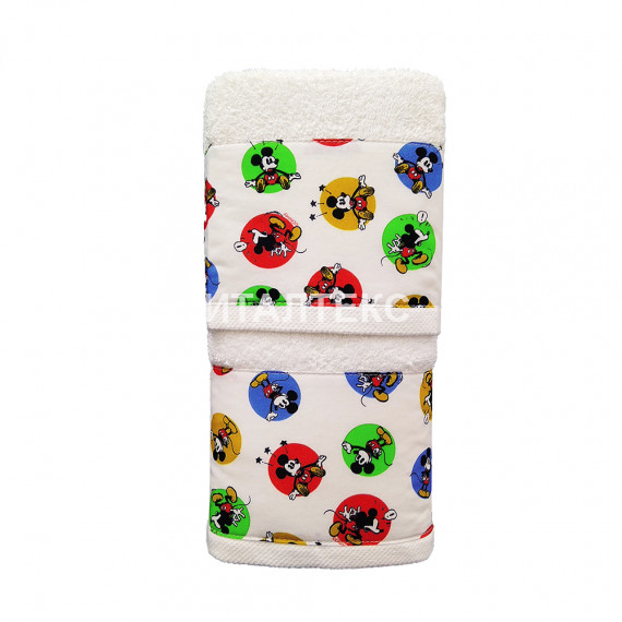 "Детские махровые полотенца в наборе 2 штуки ""HELEN"" Артикул: Бэби 7 (микки маус)"