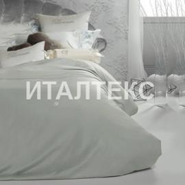 """Элитное однотонное постельное белье евро + """"BLUMARINE"""" Артикул: Лори"""
