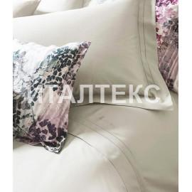 """Элитное однотонное постельное белье евро """"BLUMARINE"""" Артикул: Кристалл"""