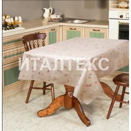 """Скатерть на стол 140х180 """"VALLEPIANO"""" Артикул: Диннер (бабочки серые)"""