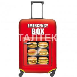"""Чехол на чемодан """"ITATI"""" Артикул: Бургеры"""