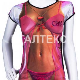 """Прикольная женская футболка """"ITATI"""" Артикул: Сексуальный купидончик"""