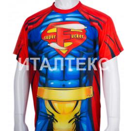 "Прикольная мужская футболка ""ITATI"" Артикул: Супермен"