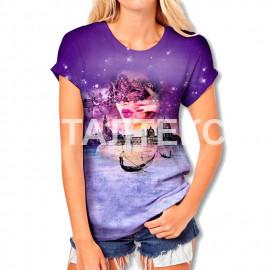 "Прикольная женская футболка ""ITATI"" Артикул: Закат в Венеции"