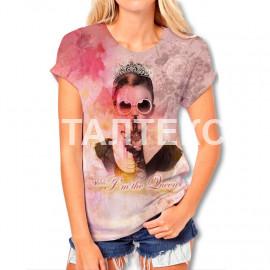 "Прикольная женская футболка ""ITATI"" Артикул: Королева"