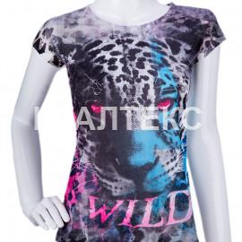 "Прикольная женская футболка ""ITATI"" Артикул: Леопард"