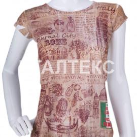 """Прикольная женская футболка """"ITATI"""" Артикул: Римские каникулы"""