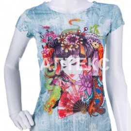 """Прикольная женская футболка """"ITATI"""" Артикул: Гейша"""