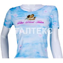 """Прикольная женская футболка """"ITATI"""" Артикул: Первый поцелуй"""