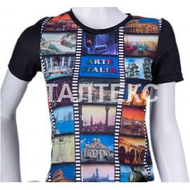 """Прикольная женская футболка """"ITATI"""" Артикул: Искусство Италии"""