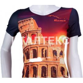 "Прикольная женская футболка""ITATI"" Артикул: Колизей"