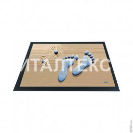 """Придверный резиновый коврик 40х60 с 3D эффектом """"ITATI"""" Артикул: Следы"""