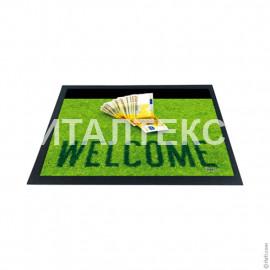 """Придверный резиновый коврик 40х60 с 3D эффектом """"ITATI"""" Артикул: Добро пожаловать"""