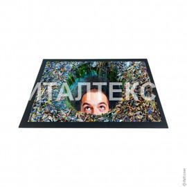 """Придверный резиновый коврик 40х60 с 3D эффектом """"ITATI"""" Артикул: Водоворот"""