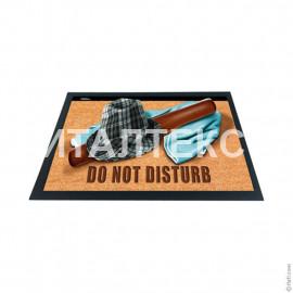 """Придверный резиновый коврик 40х60 с 3D эффектом """"ITATI"""" Артикул: Не беспокоить"""