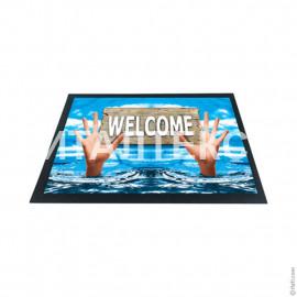 """Придверный резиновый коврик 40х60 с 3D эффектом """"ITATI"""" Артикул: Добро пожаловать 1"""