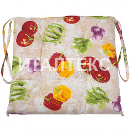 "Подушка на стул 40х40 ""VALLEPIANO"" Артикул: Диннер (овощи)"