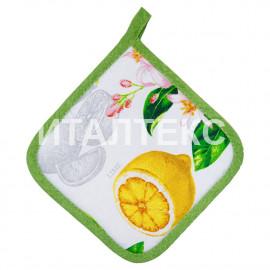 """Кухонная прихватка 17х17 """"SERVALLI"""" Артикул: Стампато (лимоны)"""
