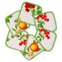 """Кухонная прихватка 17х17 """"SERVALLI"""" Артикул: Стампато (вишня/апельсины)"""