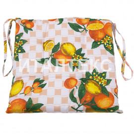 """Подушка на стул 40х40 """"VALLEPIANO"""" Артикул: Диннер (апельсины)"""