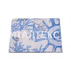 "Кухонные полотенца 12 штук 50х70 ""VALLEPIANO"" Артикул: Диннер кораллы синие"