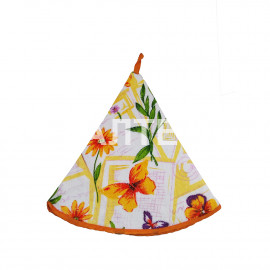 "Круглое кухонное полотенце ""GRAND TEXTIL"" Артикул: Колоре цветы (диаметр 70)"