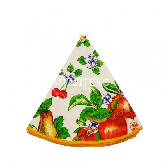 """Круглое кухонное полотенце """"GRAND TEXTIL"""" Артикул: Колоре яблоки (диаметр 70)"""