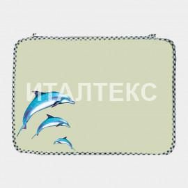"Комплект обеденных салфеток 2 штуки ""ITATI"" Артикул: Дельфины"