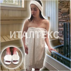 """Набор для ванной с парео 3 предмета """"GRAND TEXTIL"""" Артикул: Дольче Вита"""
