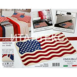 """Коврик для комнаты 54х82 """"ONDA BLU"""" Артикул: Америка"""