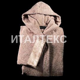 "Женский махровый халат с капюшоном ""CESARE PACIOTTI"" Артикул: Стилетто"