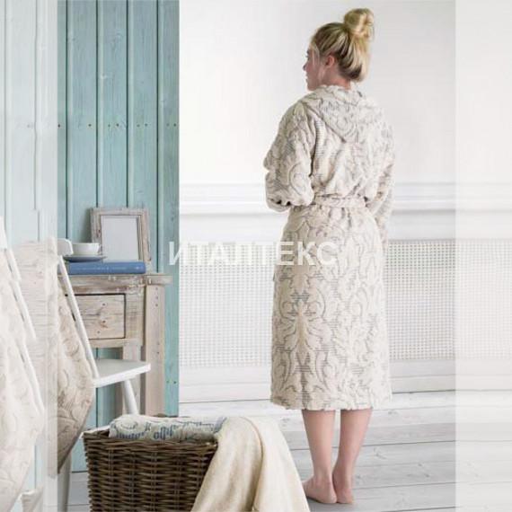 """Женский махровый халат с капюшоном """"EMANUELA GALIZZI"""" Артикул: Найс"""