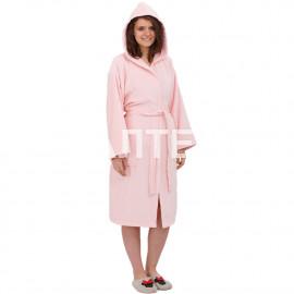 """Велюровый женский махровый халат с капюшоном """"SERGIO ROSSI"""" Артикул: СХ-П"""