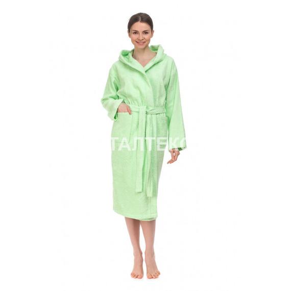 """Женский махровый халат с капюшоном """"ONDA BLU"""" Артикул: Билли"""