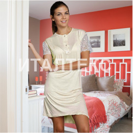 """Женская ночная сорочка """"LA BIRBA"""" Артикул: 964 (молочный)"""