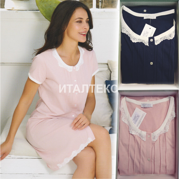 "Женская ночная сорочка на пуговицах ""VILFRAM"" Артикул: 11175"