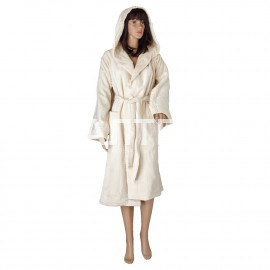 """Велюровый женский махровый халат с капюшоном """"SERGIO ROSSI"""" Артикул: СХ-П 3"""