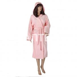 """Велюровый женский махровый халат с капюшоном """"SERGIO ROSSI"""" Артикул: СХ-П 1"""