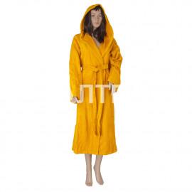 """Велюровый женский махровый халат с капюшоном """"SERGIO ROSSI"""" Артикул: СХ-П 2"""