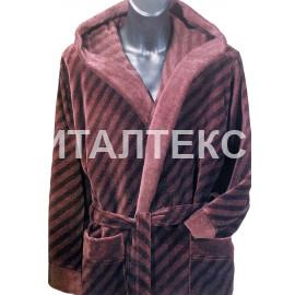 """Женский велюровый халат с капюшоном """"ROSSI"""" Артикул: Сирио"""