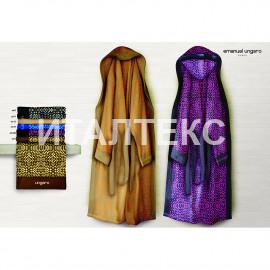 """Махровый домашний халат с капюшоном """"EMANUEL UNGARO"""" Артикул: Нью Йорк (малиновый)"""